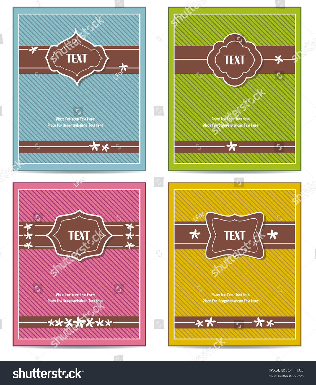 Old Book Cover Vector Free ~ Old vintage book cover set template stock vector