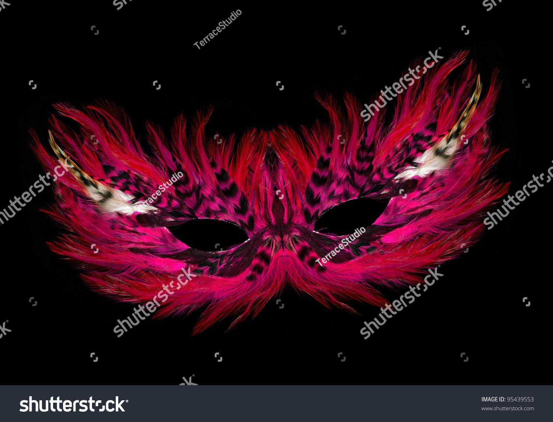 fancy festive purple pink red feathers stock photo