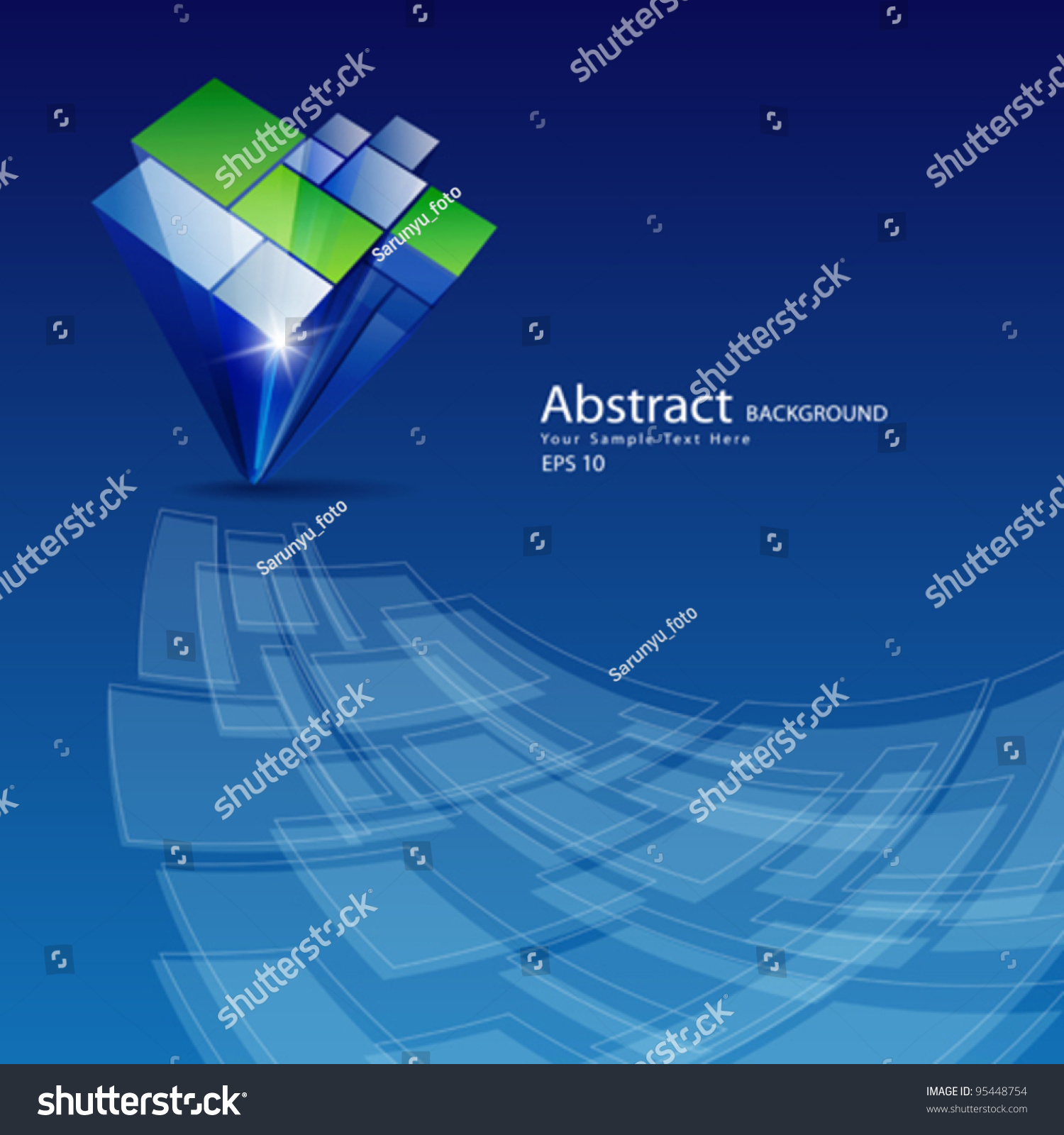Abstract Architecture Design Background Vector Illustration
