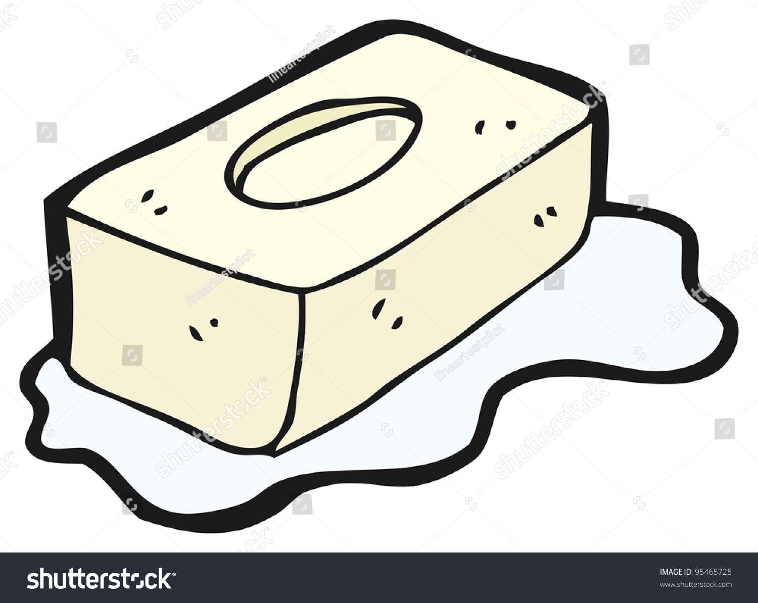 how to draw a soap bar