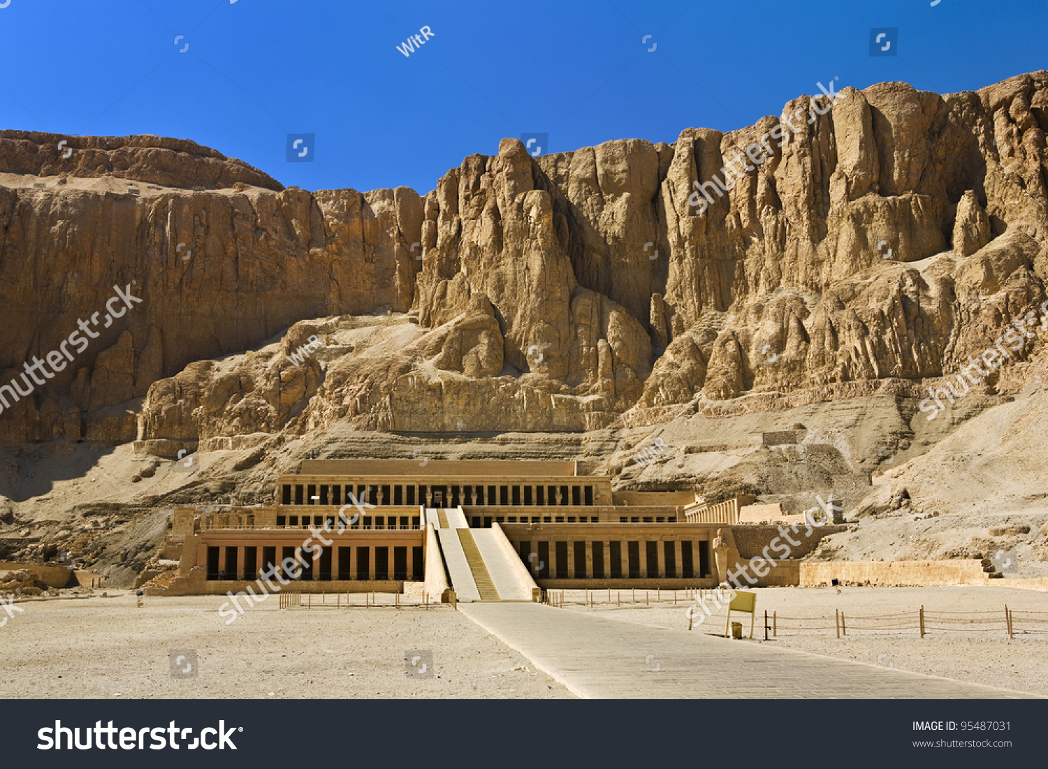 Egypt Luxor Deir Elbahari Or Deir Stock Photo 95487031 ...