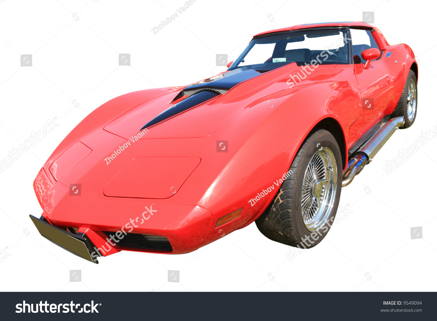 vintage sport american red car 70th old time machine in dust and scratch stock photo 9549094. Black Bedroom Furniture Sets. Home Design Ideas