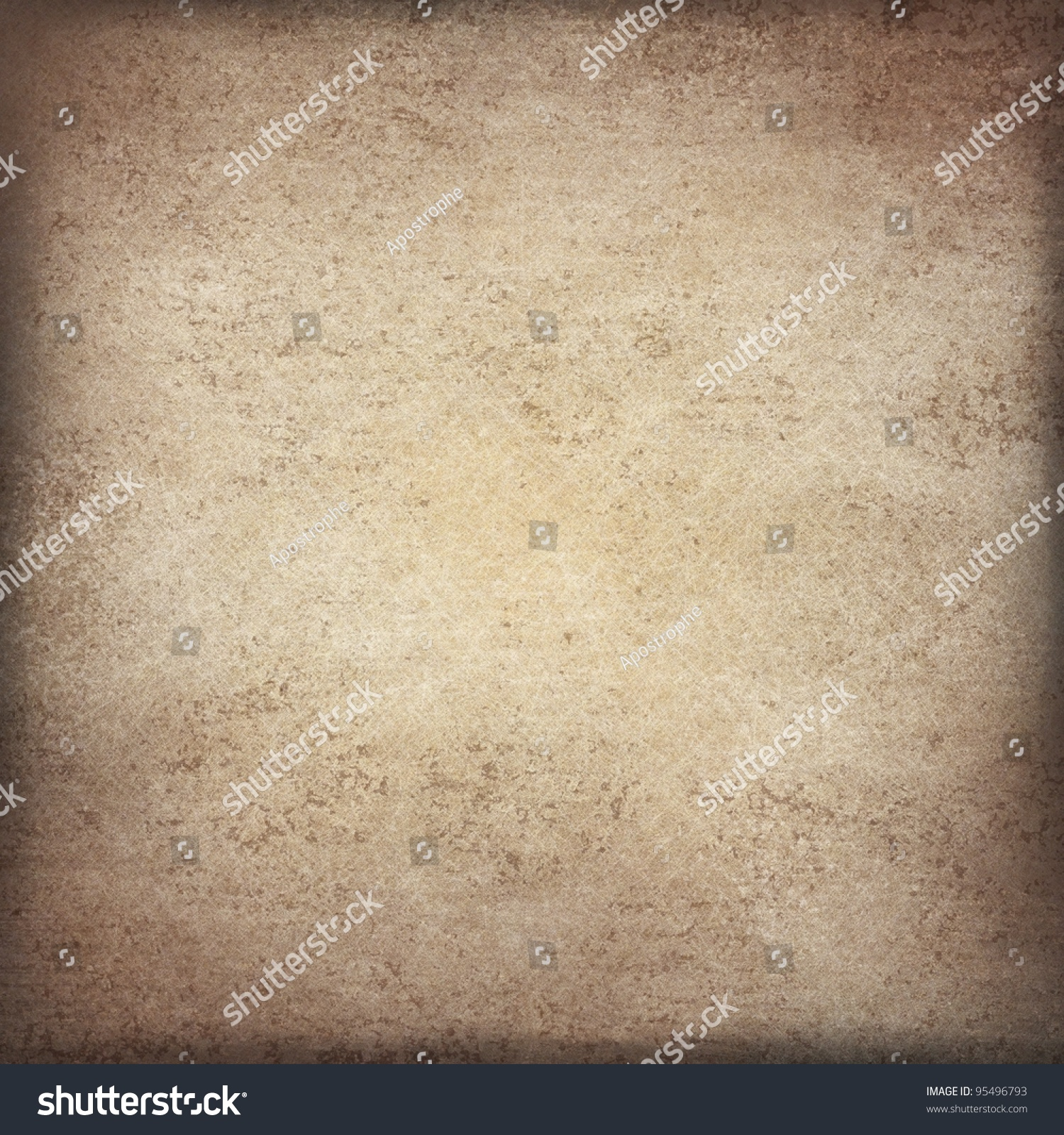 Brown And Beige Parchment Paper Illustration Background ...