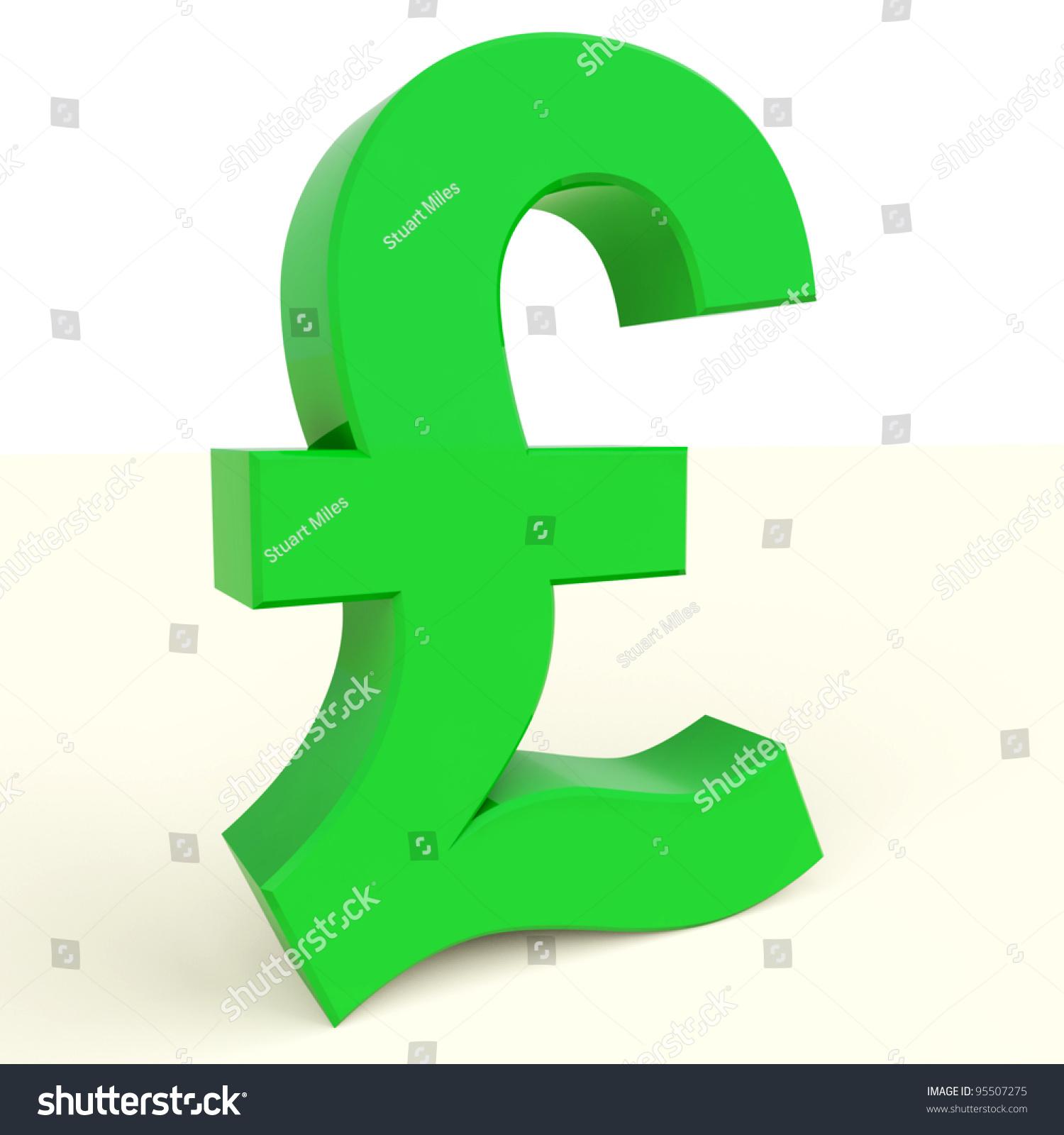Pound Symbol Money Investments England Stock Illustration 95507275