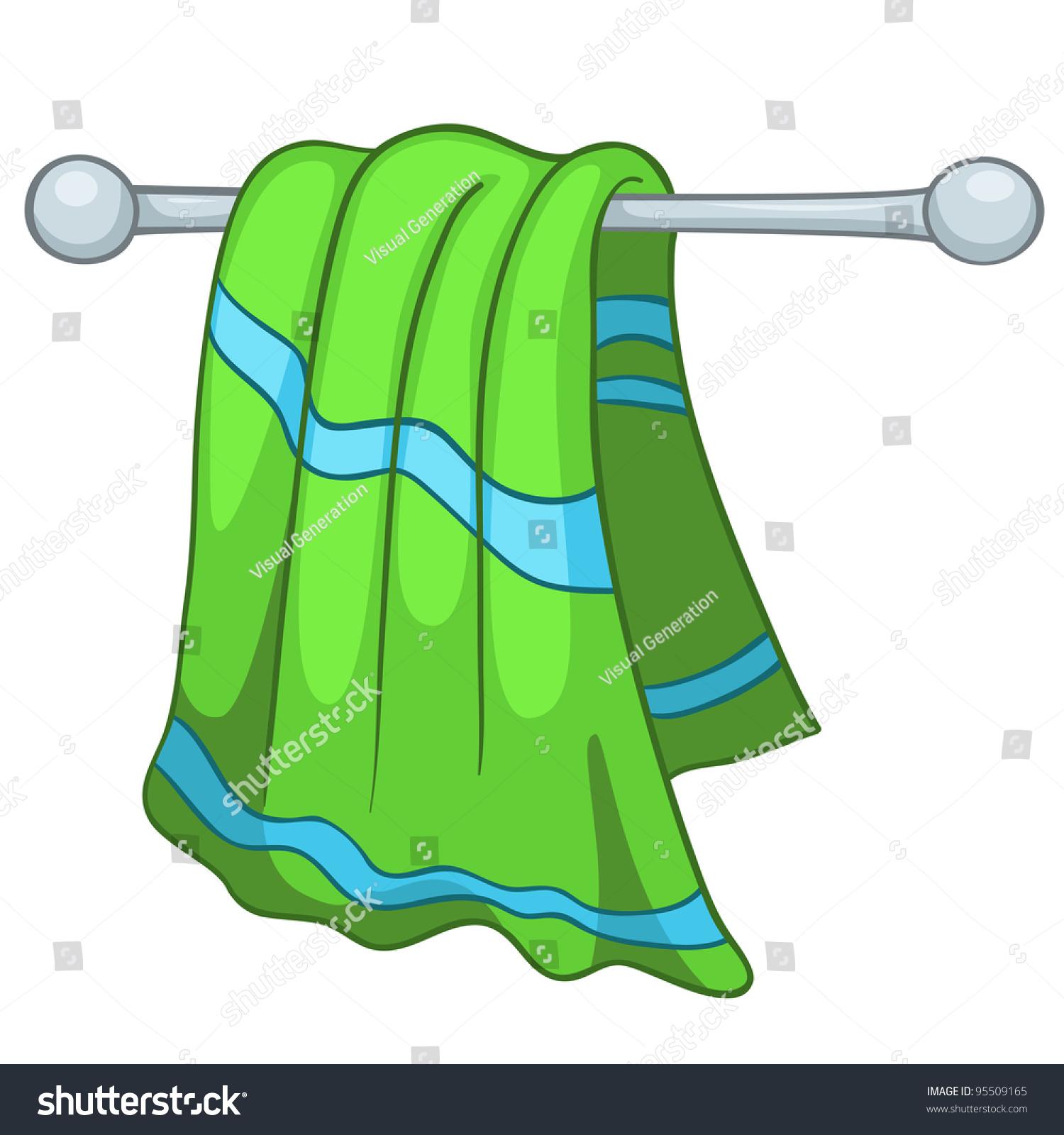Cartoon Home Kitchen Towel Isolated On Stock Vector