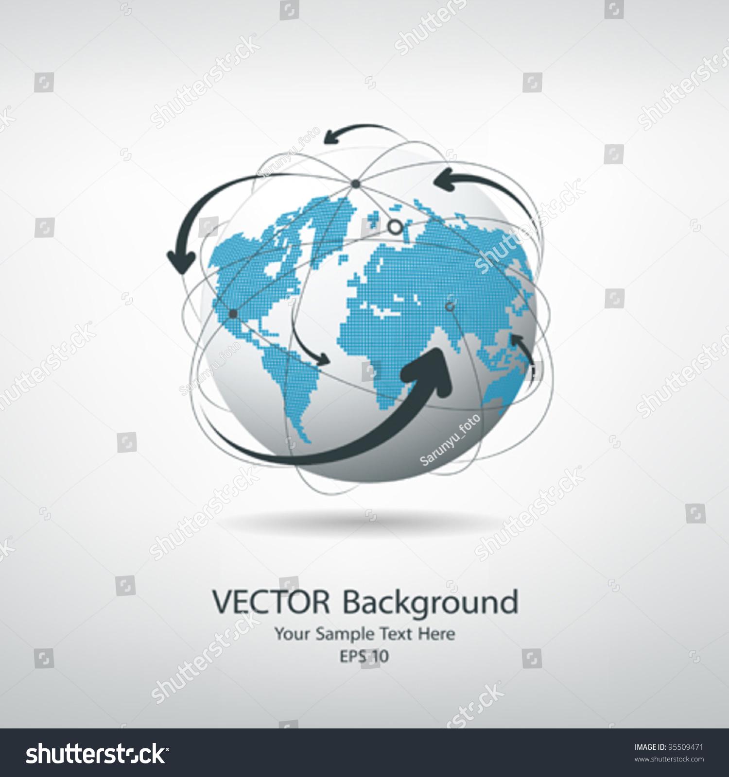 Modern Globe Connections Network Design Vector Stock-Vektorgrafik ...