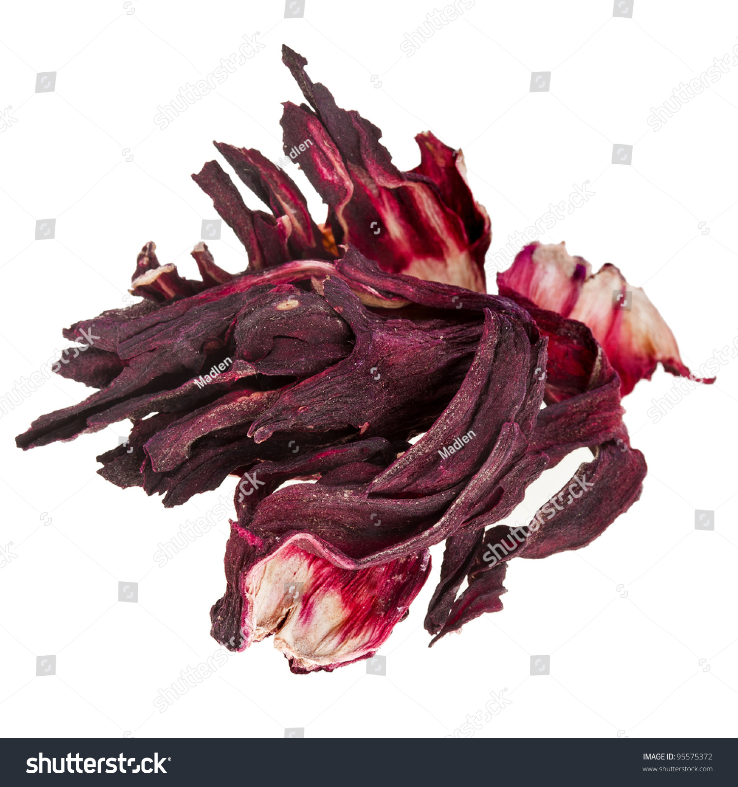 Dried hibiscus flower tea isolated on stock photo 100 legal dried hibiscus flower tea isolated on white background izmirmasajfo