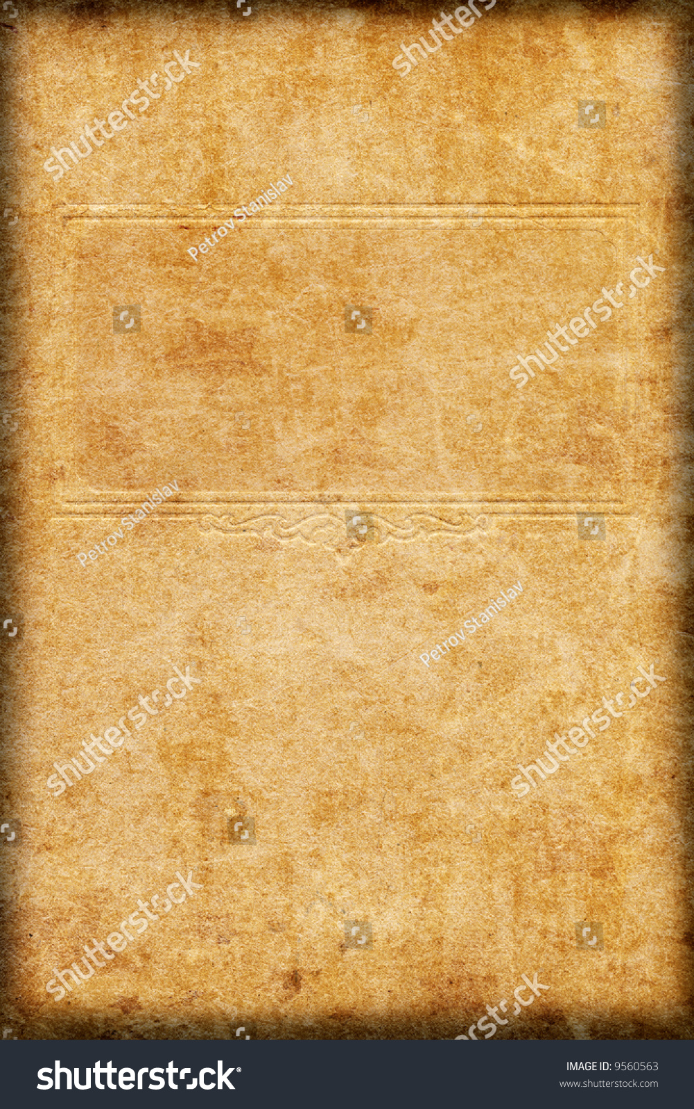 Vintage Book Cover Border ~ Old book cover with border stock photo  shutterstock