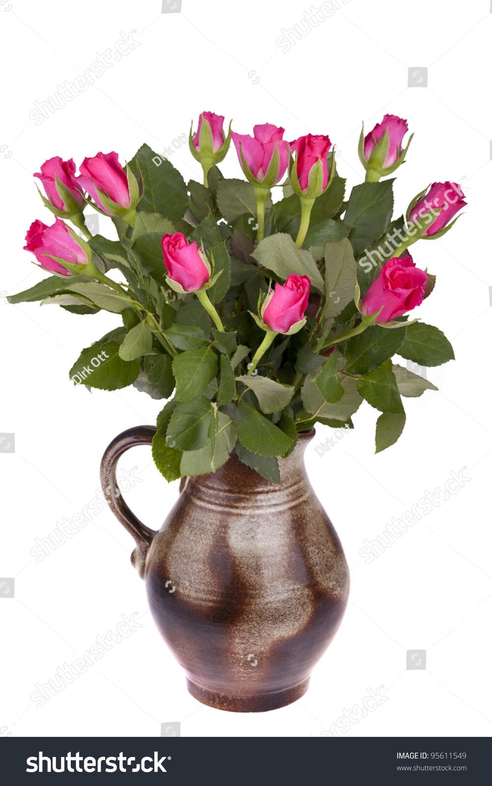 Studioshot Handmade Ceramic Flower Pot Retro Stock Photo Royalty