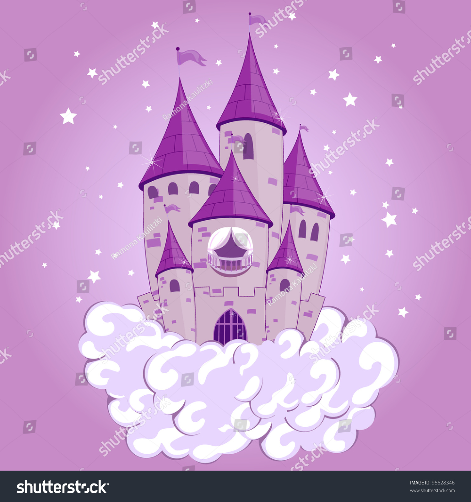 Princess Castle Vector