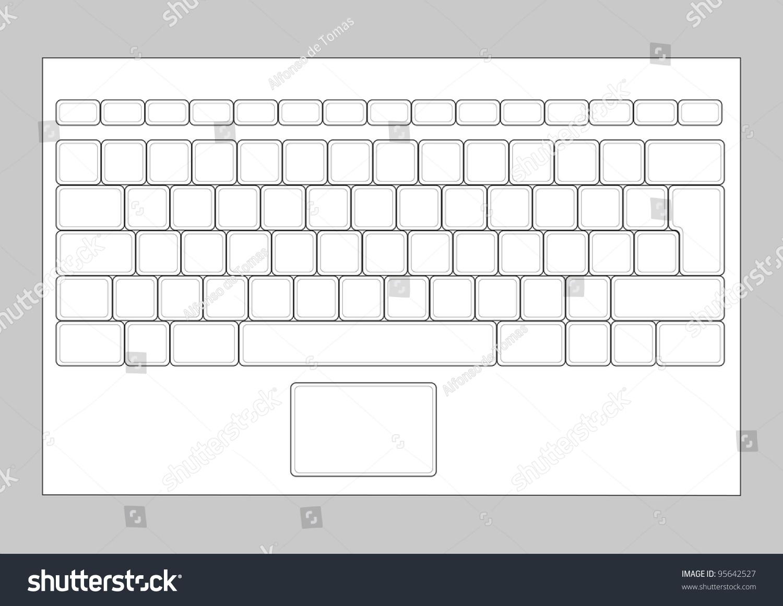 keyboard overlay template - royalty free laptop blank keyboard layout computer