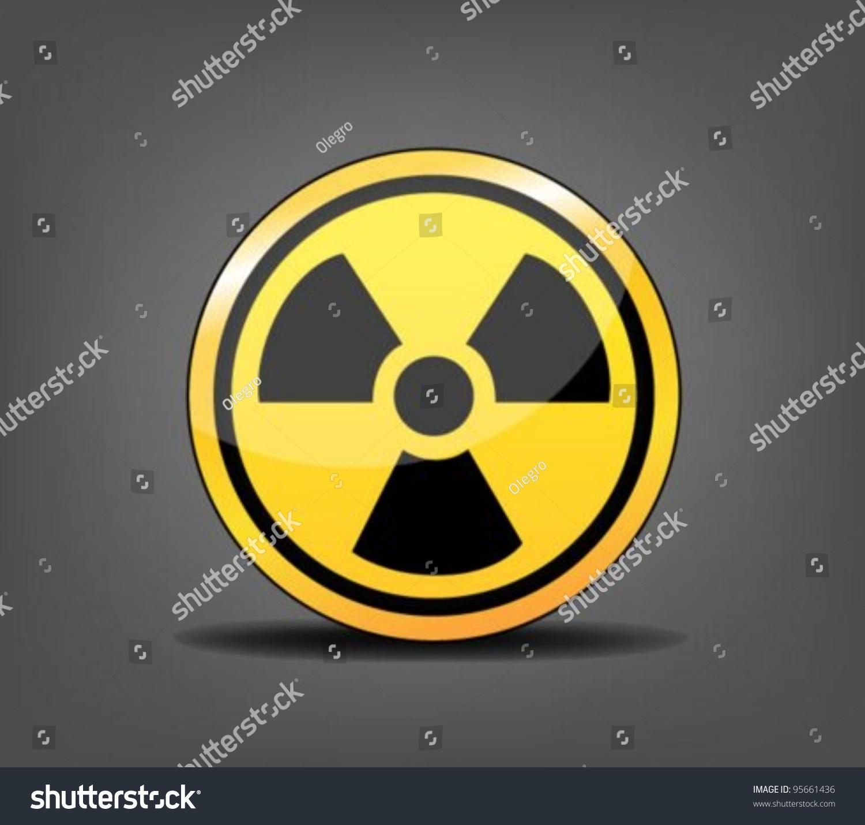 Radioactive symbol stock vector 95661436 shutterstock radioactive symbol buycottarizona