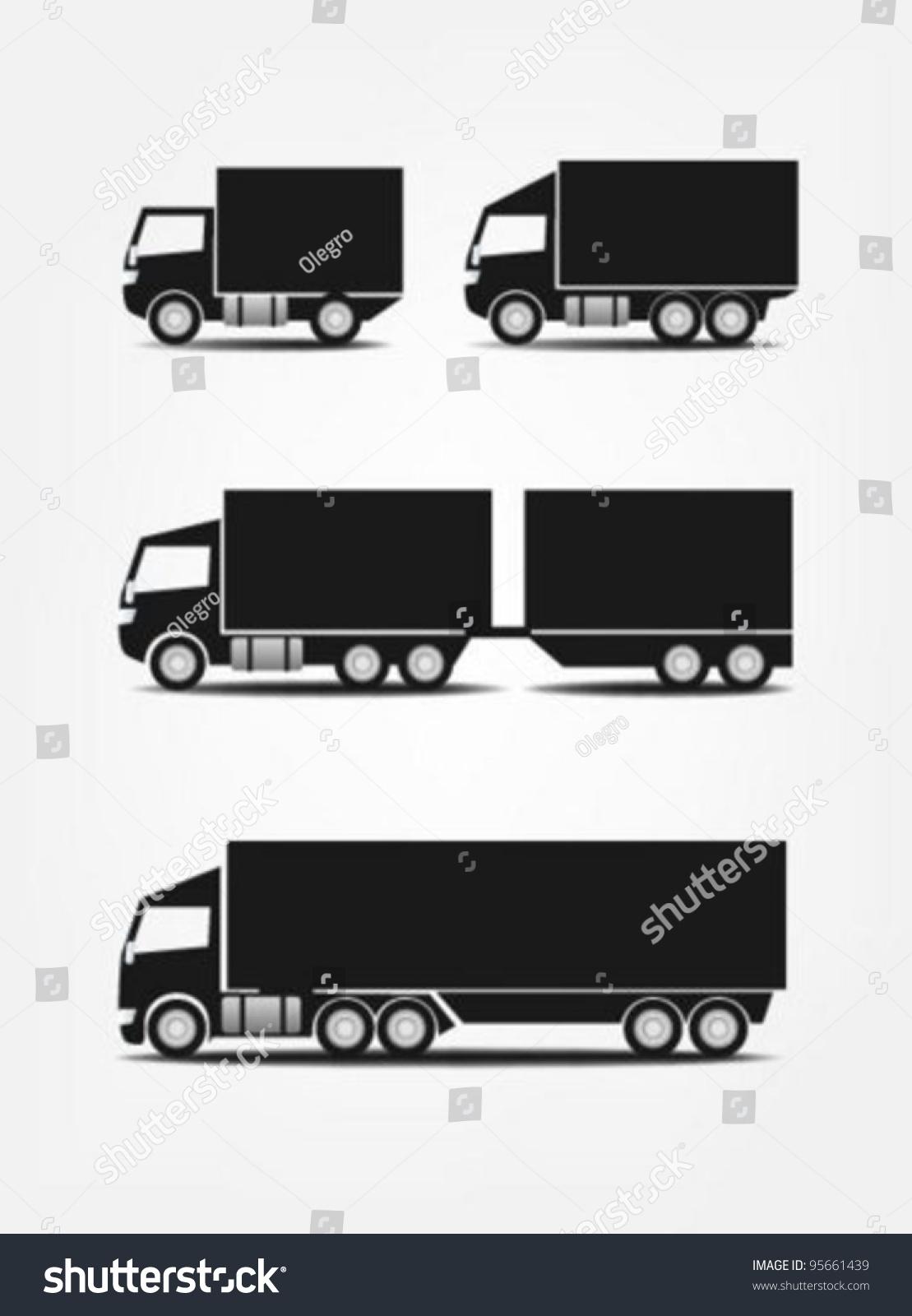 Truck Symbols Stock Vector Illustration 95661439 : Shutterstock