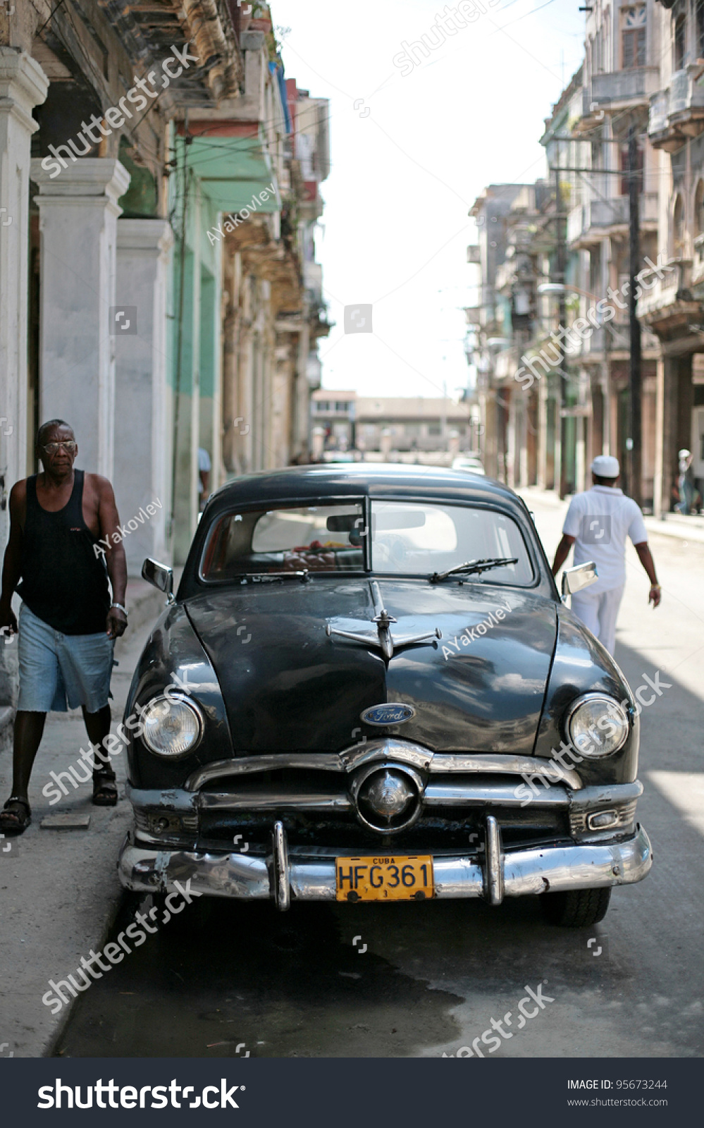 HAVANA 25 MARCH Vintage Car Cuba Stock Photo (Safe to Use) 95673244 ...