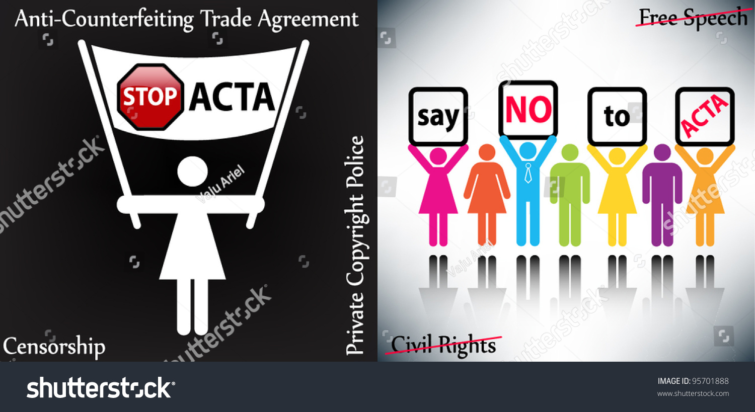 Stop Digital Privacy Restrictions Acta Anticounterfeiting Stock