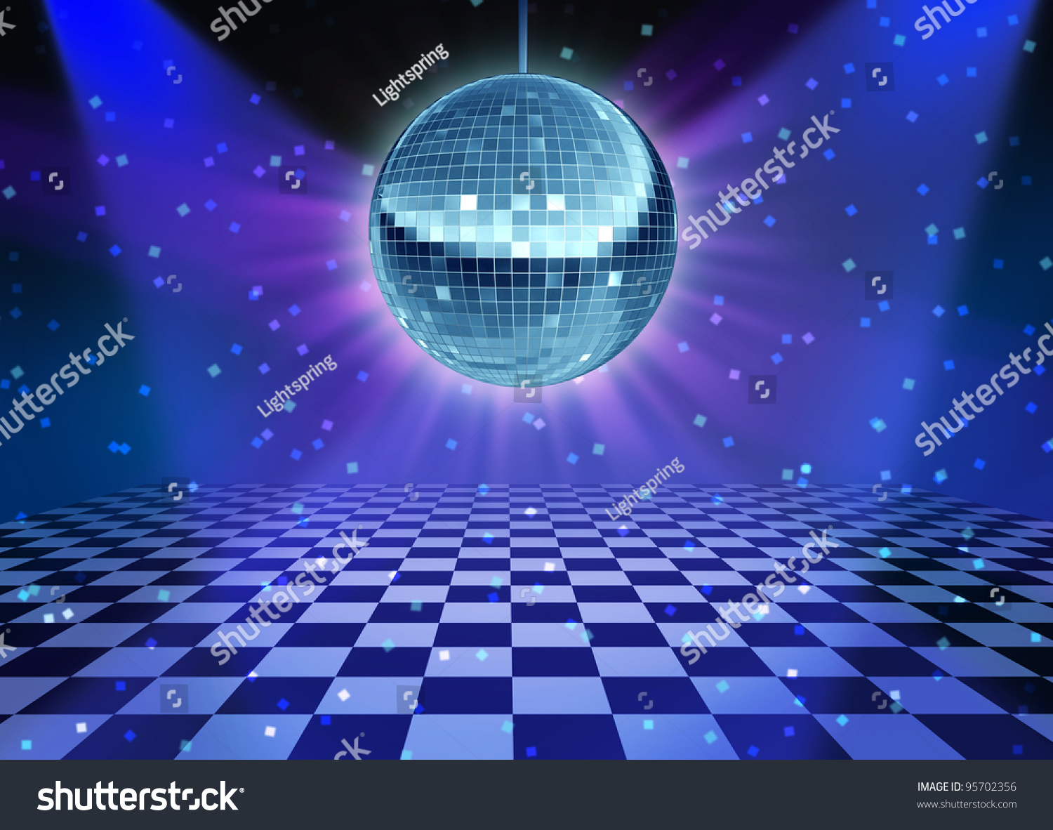 Dance floor disco night mirror ball stock illustration for 1234 get on the dance floor songs download