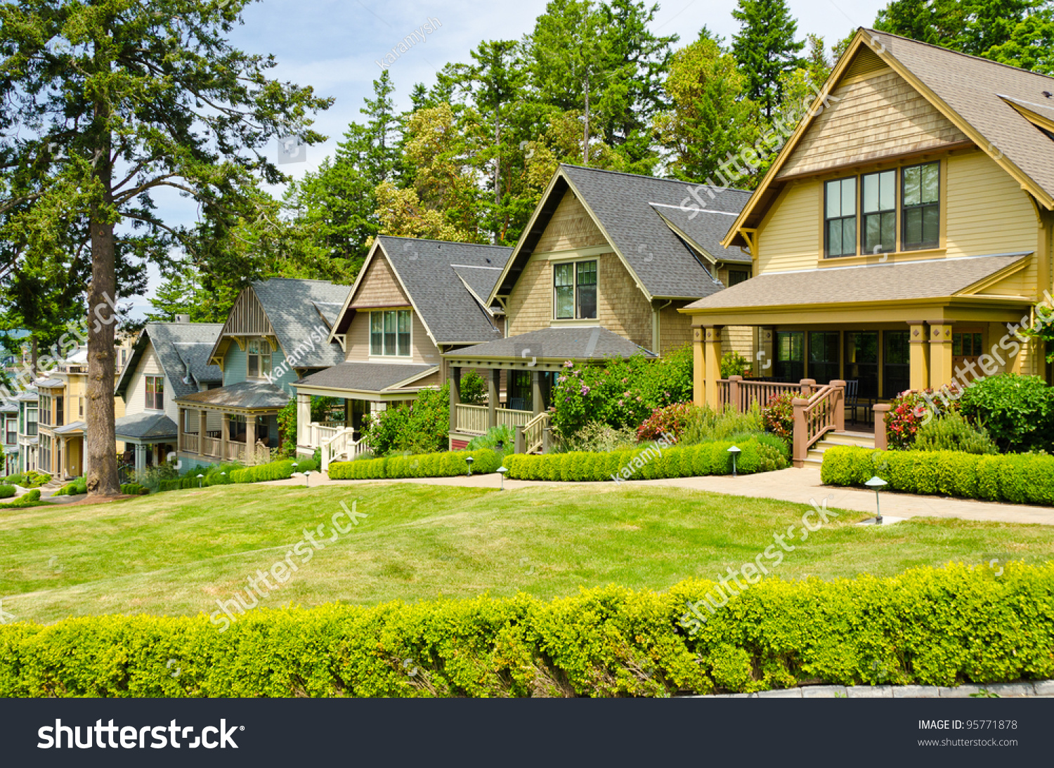 Great neighborhood homes suburb fall north stock photo for Great american homes