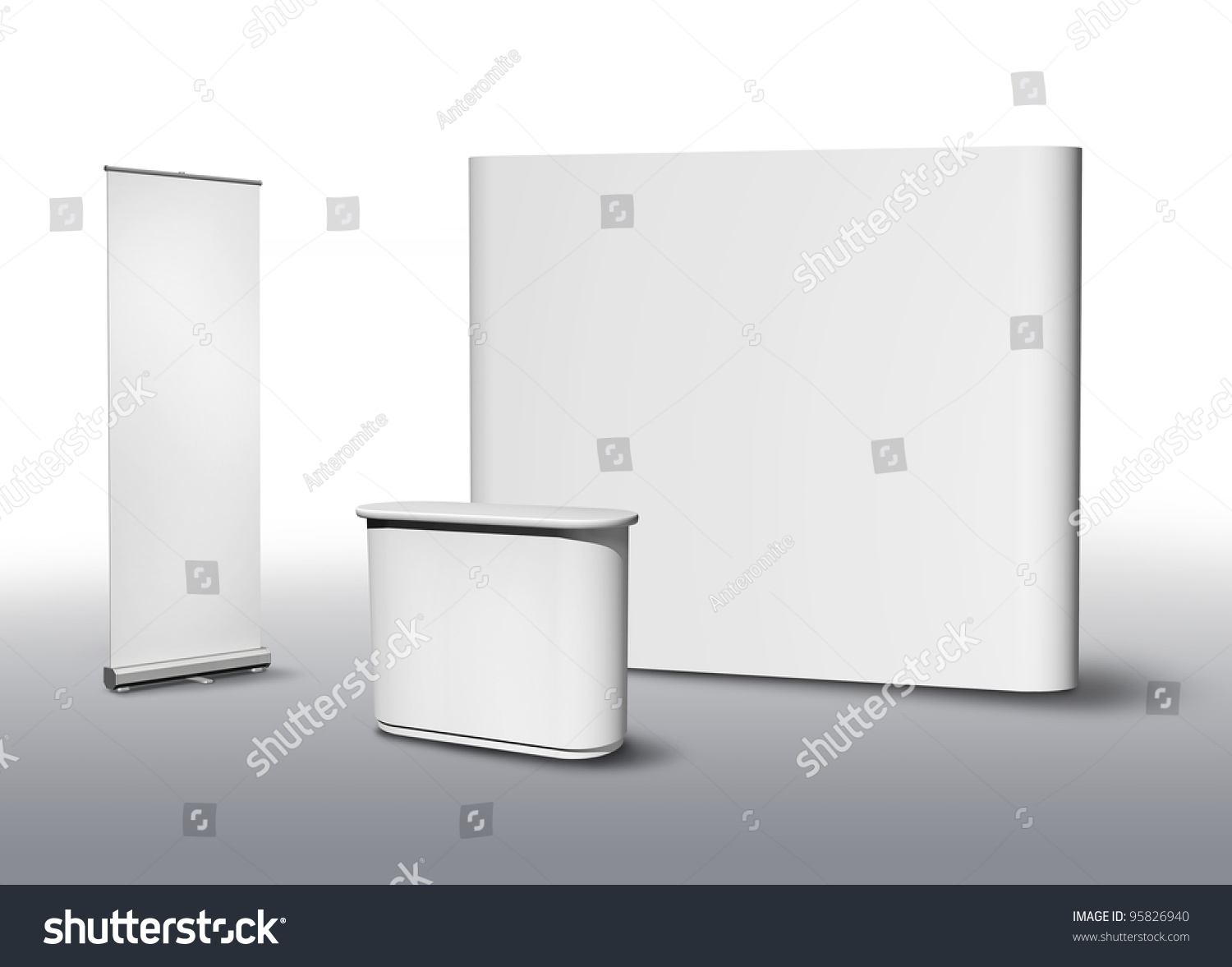 Exhibition Stand Application Form : Blank exhibition fair stand desk wall stock illustration