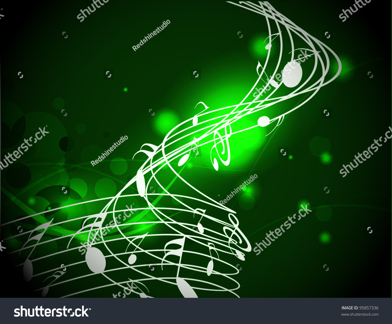 Rainbow Notes On Light Background Stock: Music Colorful Music Note Theme