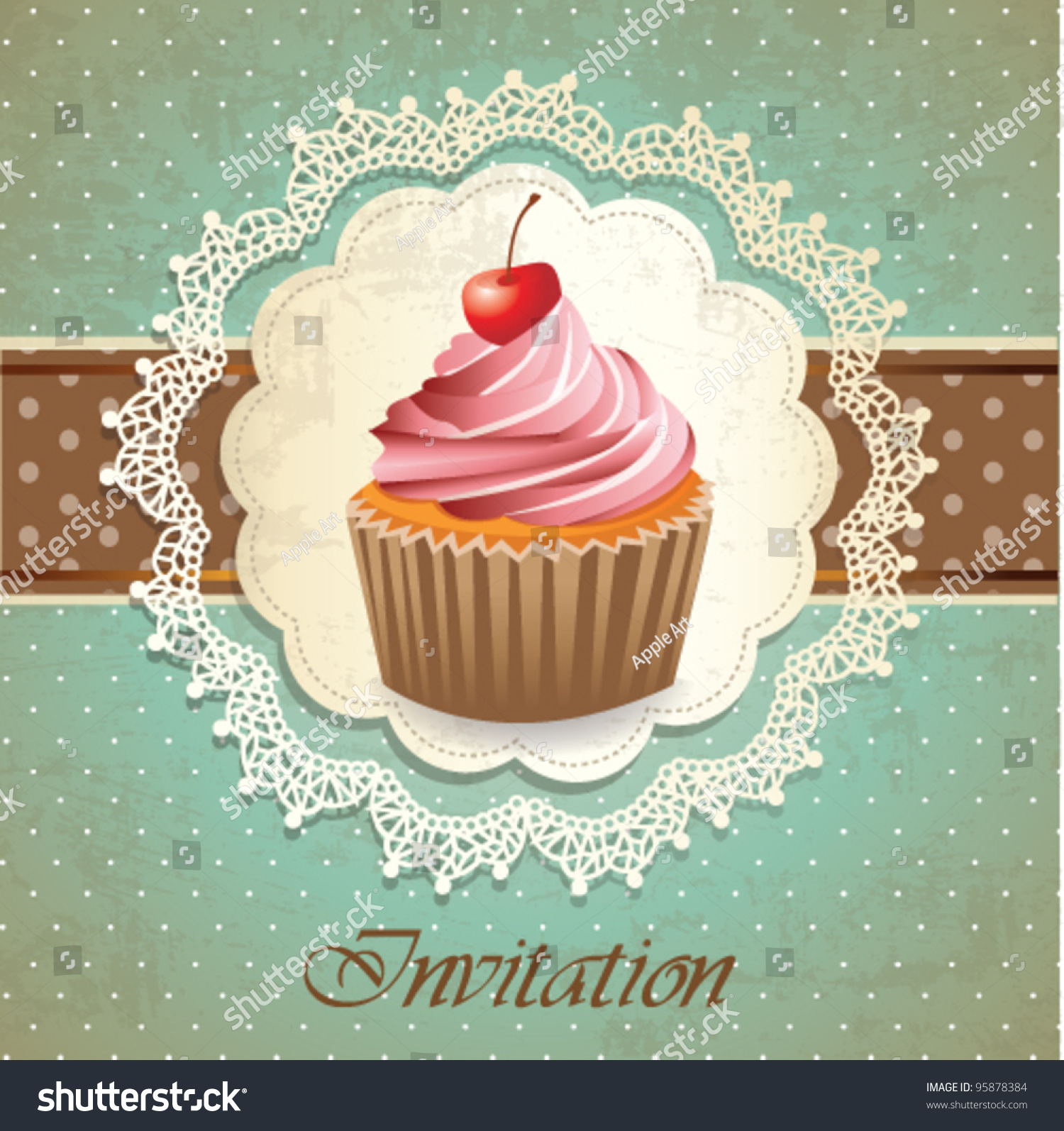 Cake Packaging Design Vector : Vintage Cupcake Illustration www.imgkid.com - The Image ...