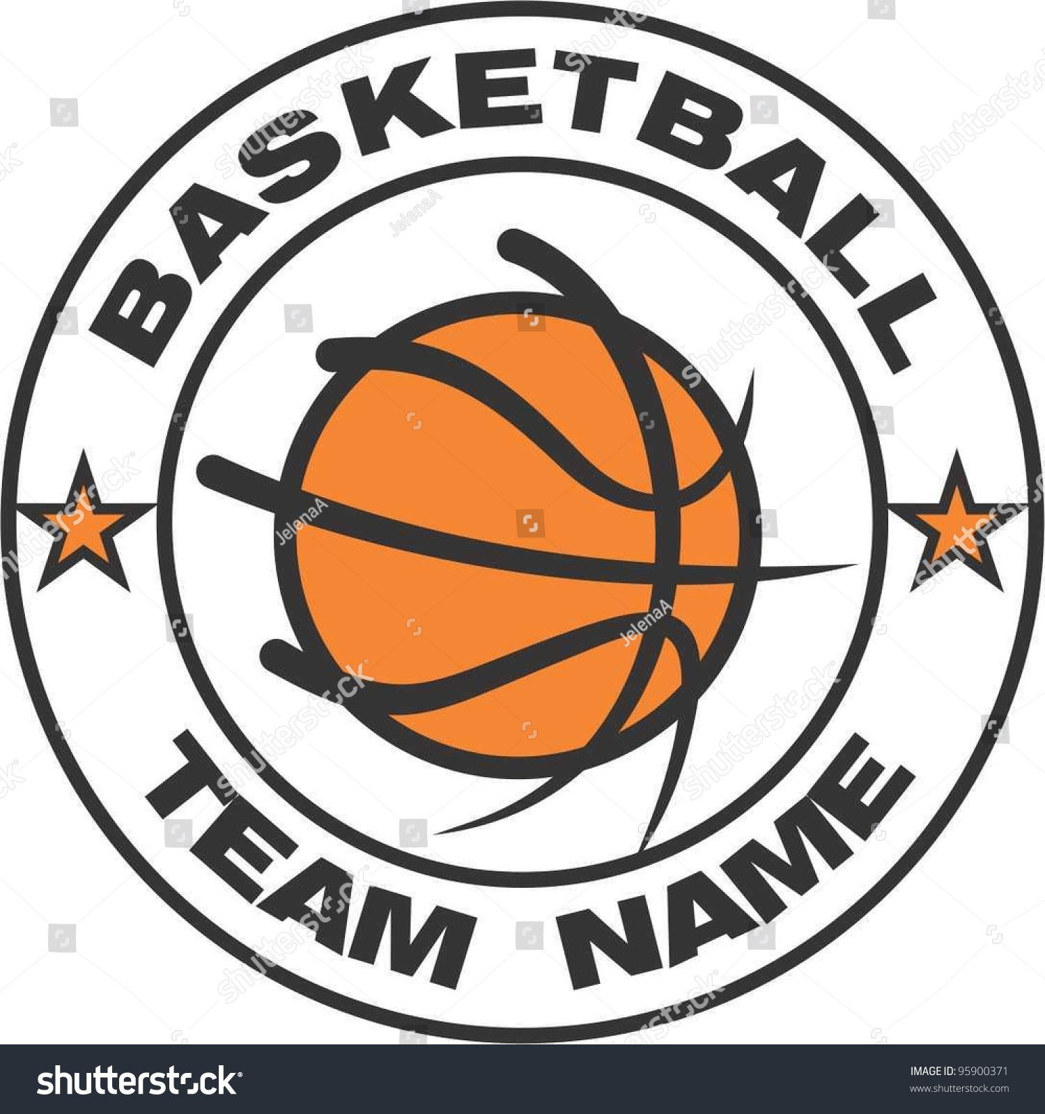 Basketball Logo Stock Vector 95900371 - Shutterstock