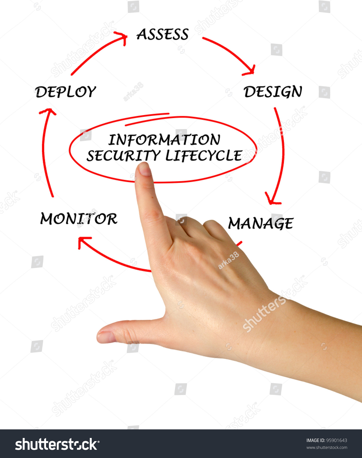 Diagram Information Security Life Cycle Stock Photo (Edit Now ...
