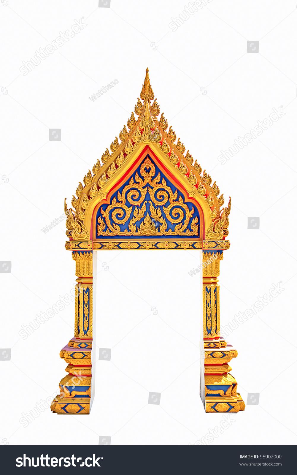 Thai Door Frame Isolated
