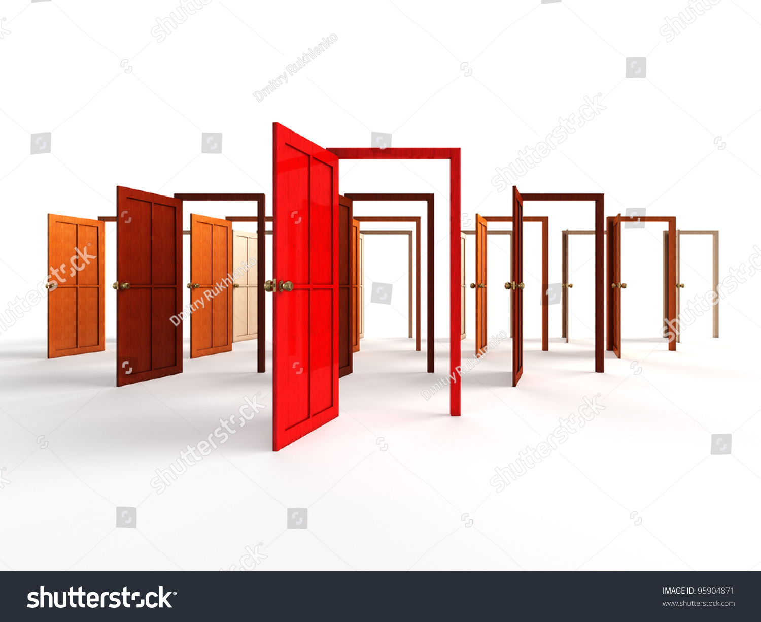 Open doors - welcome choice opportunity concept