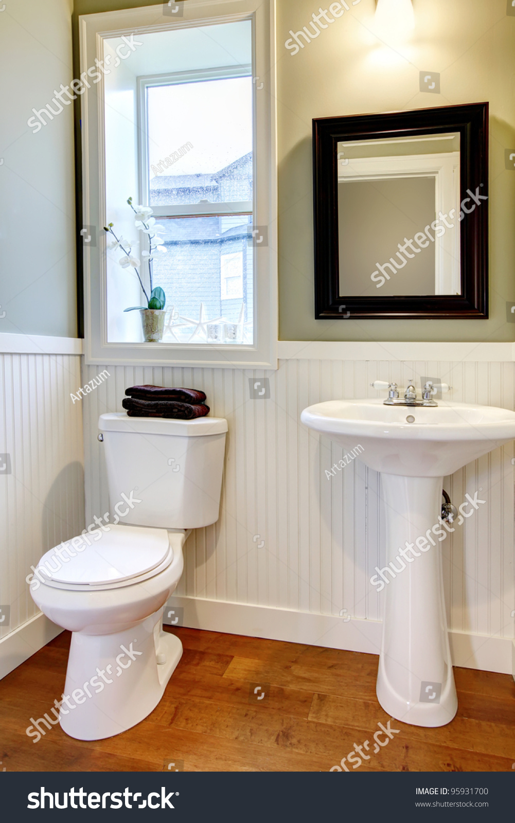 Nice small new simple and elegant bathroom stock photo for Nice small bathrooms