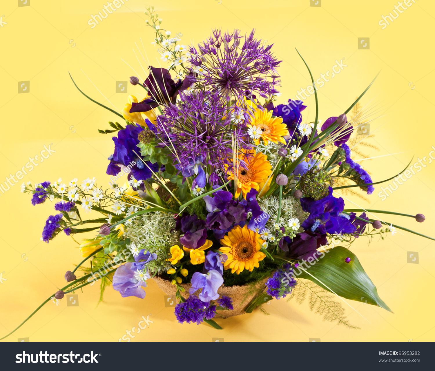 Contemporary Purple Colored Flowers Image Collection Coloring Page
