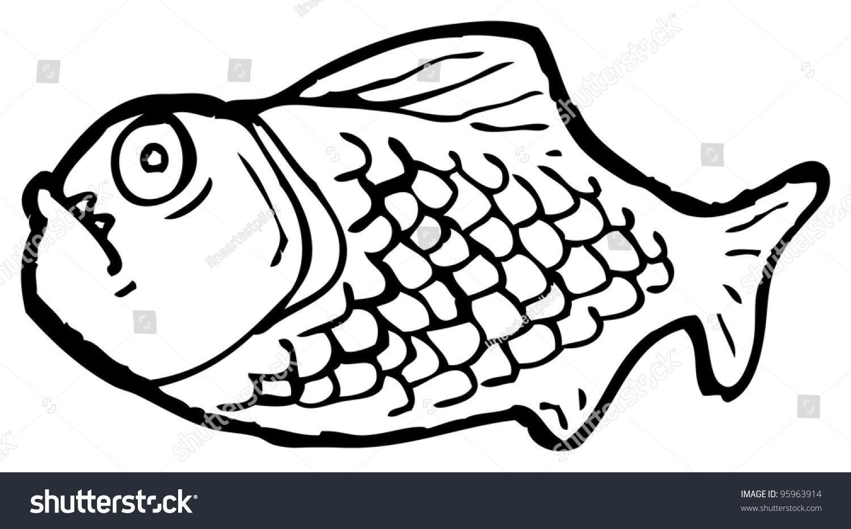 piranha cartoon stock illustration 95963914 shutterstock