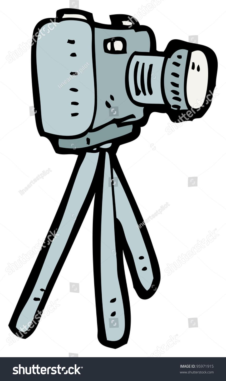 Cartoon Camera On Tripod Stock Illustration 95971915 - Shutterstock