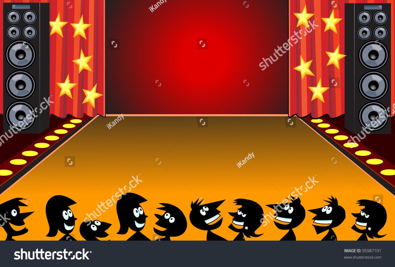 Stage Cartoon People Stock Vector 95987101 - Shutterstock