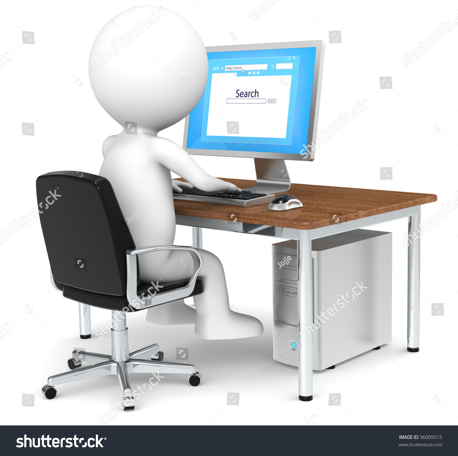 search d little human character searching stock illustration search 3d little human character searching on internet blue screen business people series