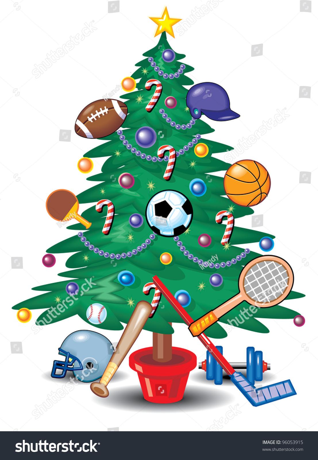 Sports christmas tree stock vector shutterstock
