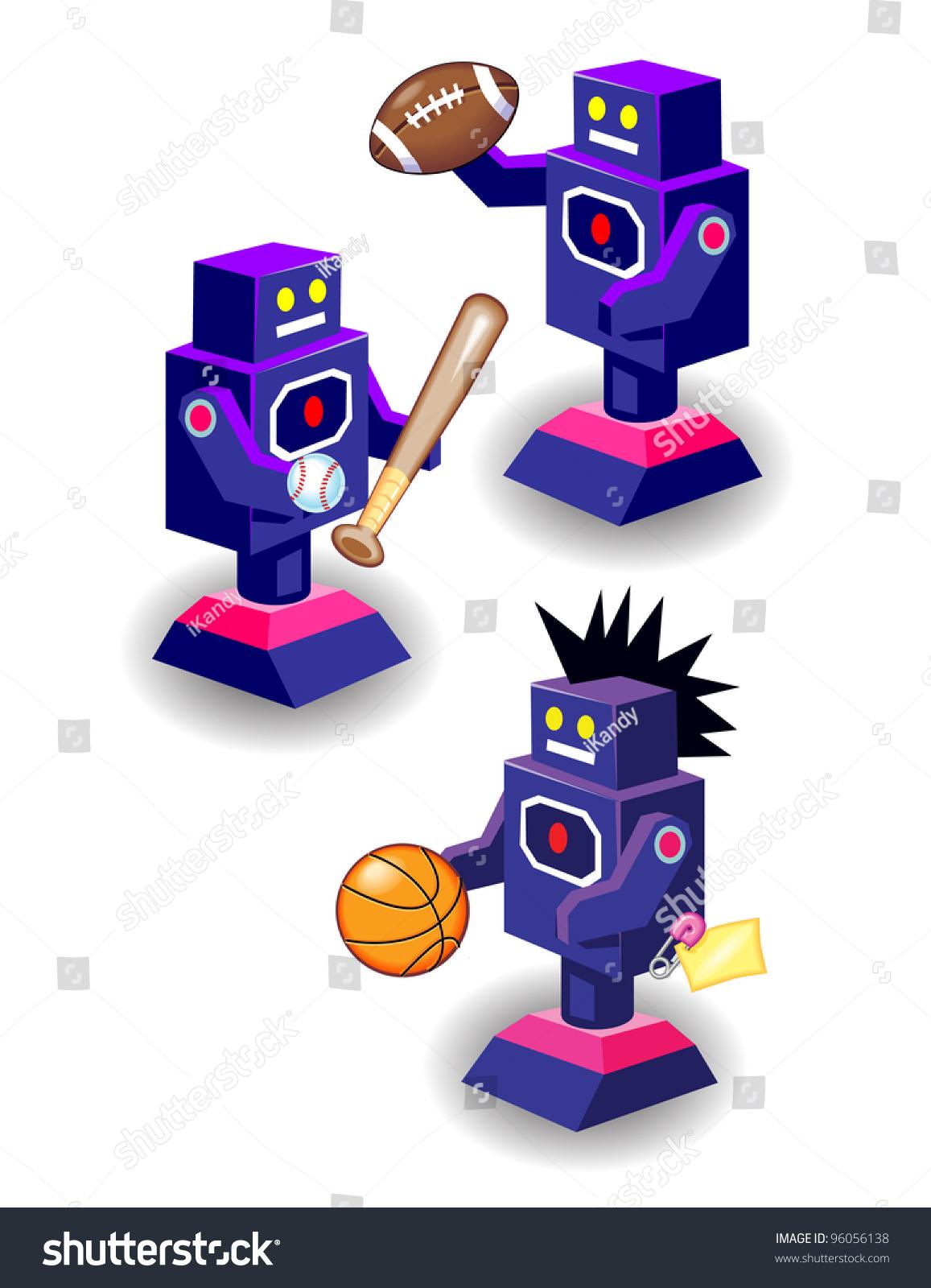 Sports Robots Stock Illustration 96056138 - Shutterstock