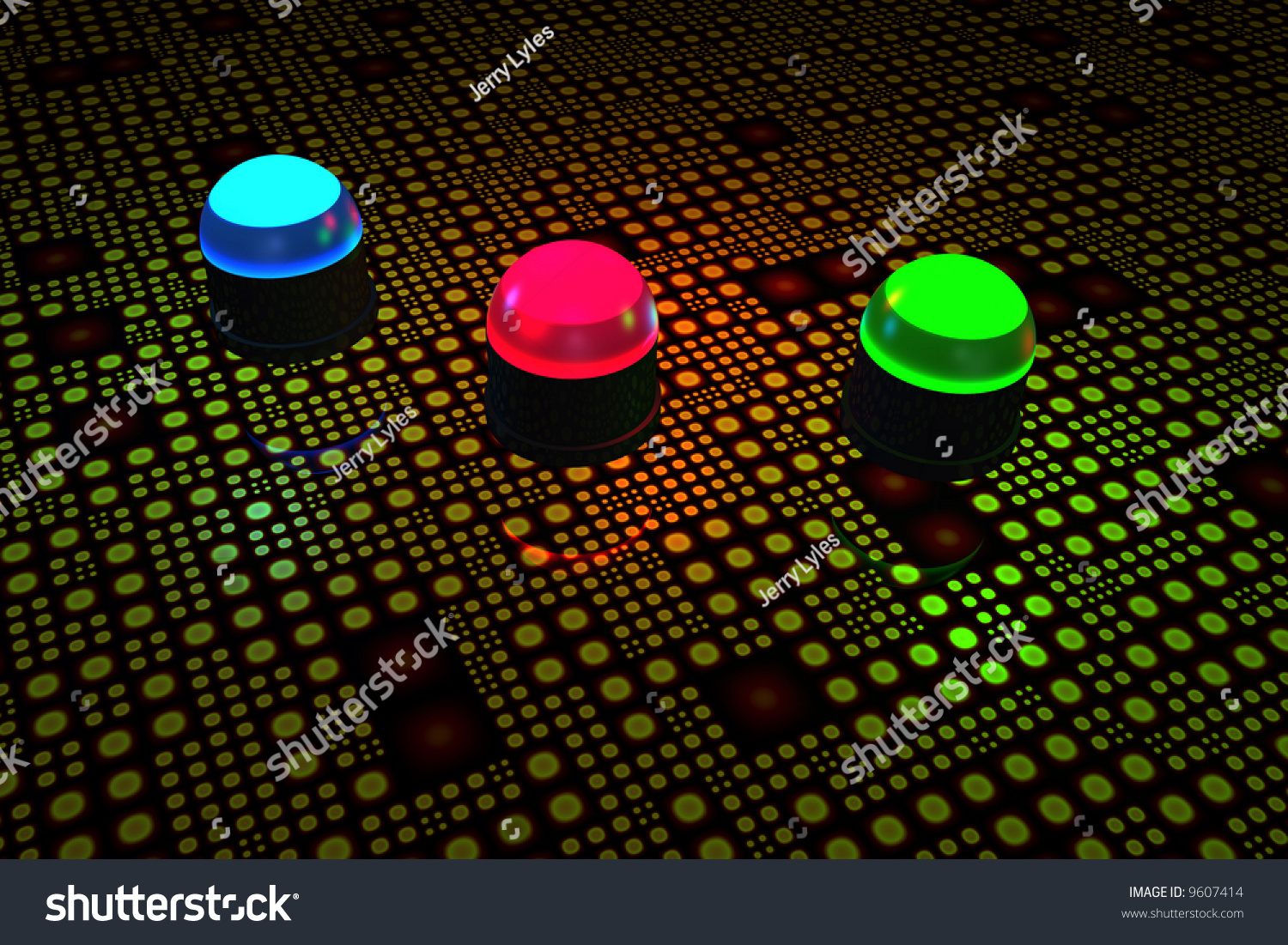 Light Emitting Diodes On Circuit Board Stock Illustration 9607414 Lightemitting Diode Application Basiccircuit