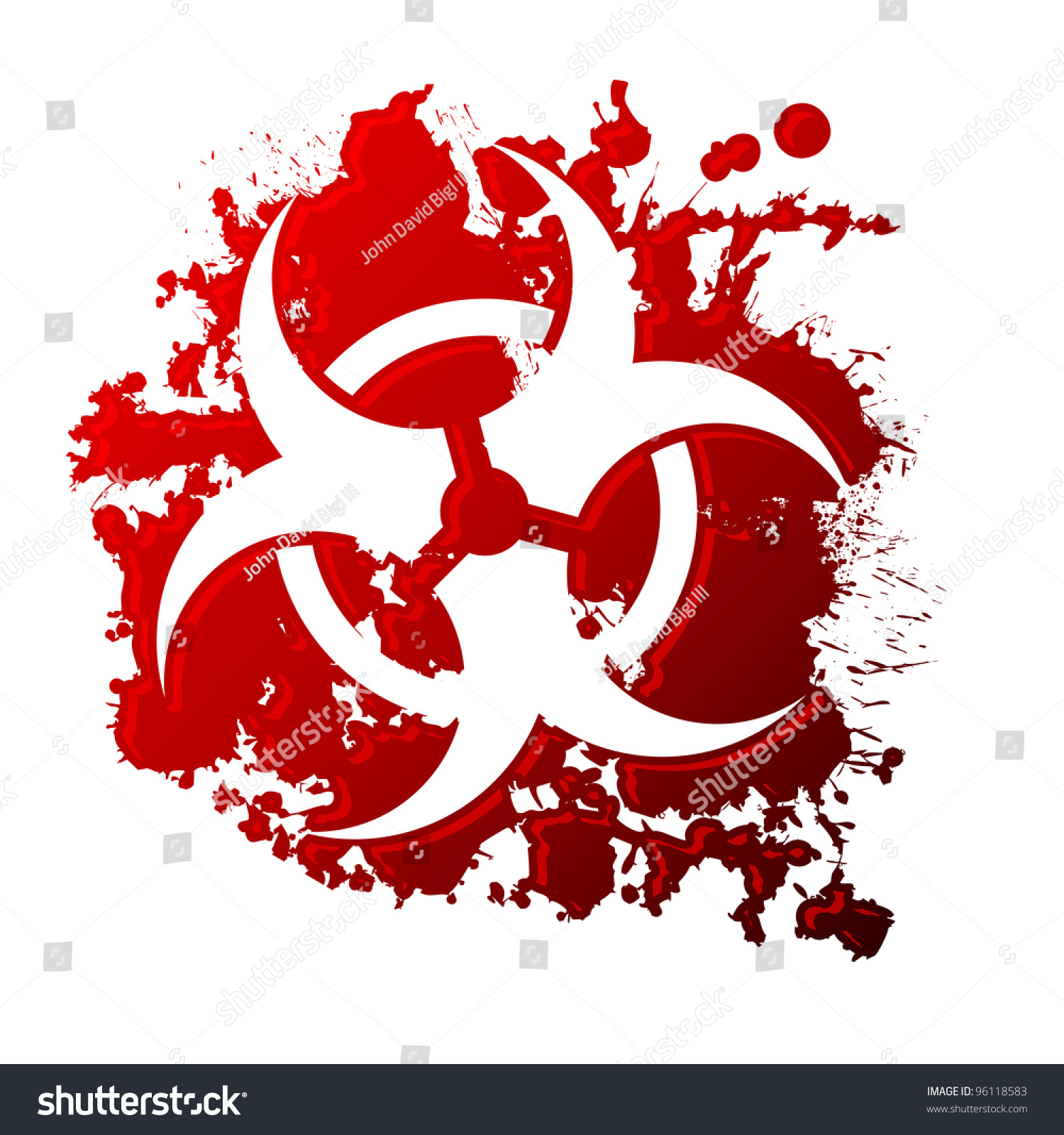 Biohazard symbol reversed out blood spill stock vector 96118583 a biohazard symbol reversed out of a blood spill biocorpaavc Image collections