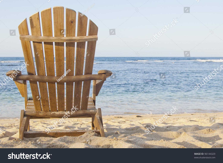 Adirondack chair beach - Beach Chair Adirondack Chair Beach Scene