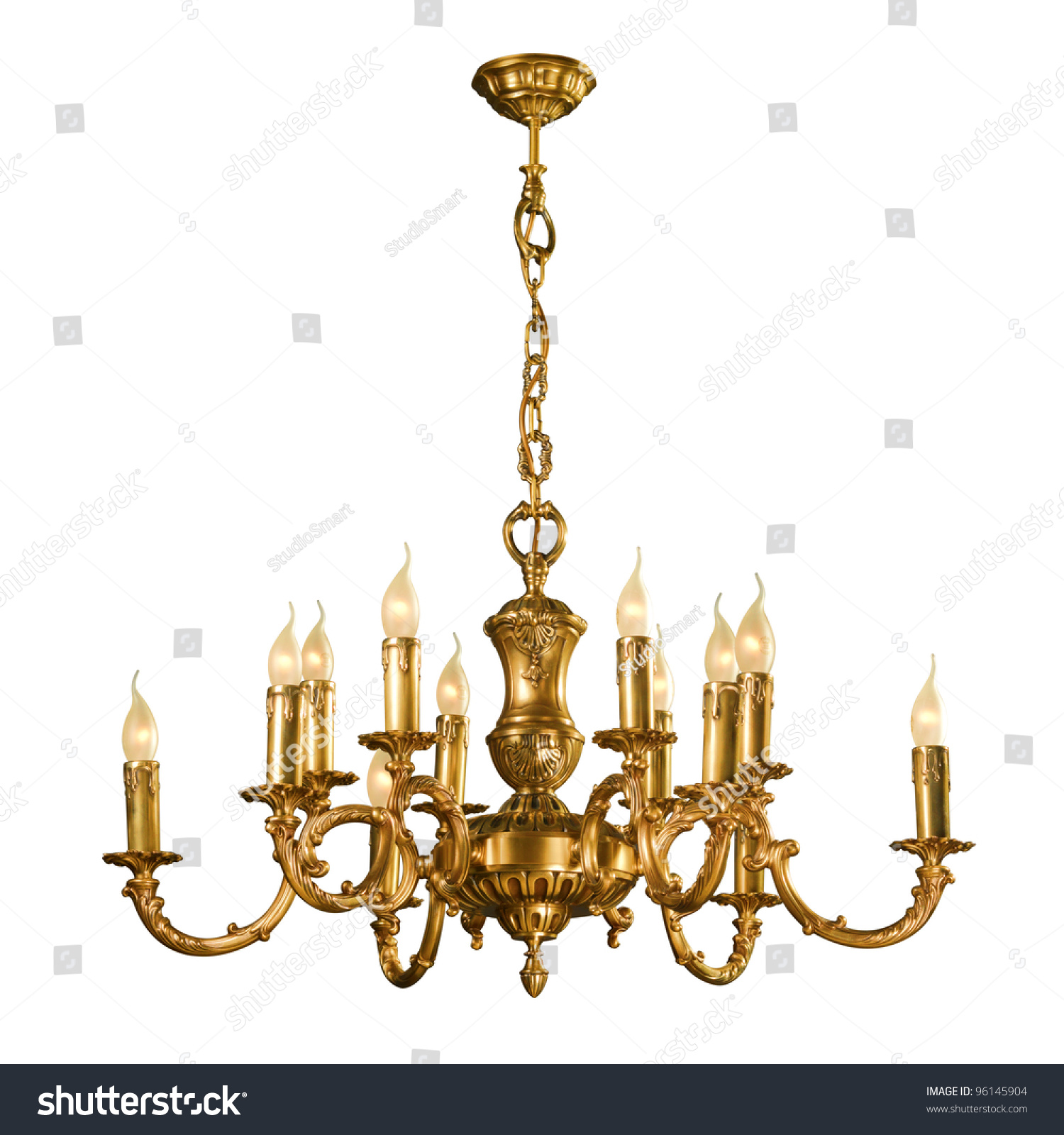Vintage chandelier isolated on white background with clipping path vintage chandelier isolated on white background with clipping path ez canvas aloadofball Images