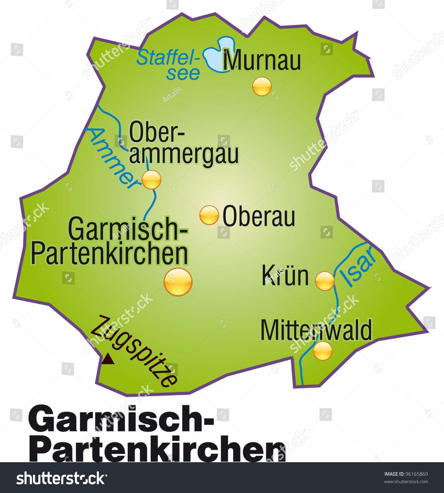 Garmisch Partenkirchen Bavaria Germany Stock Vector Royalty Free