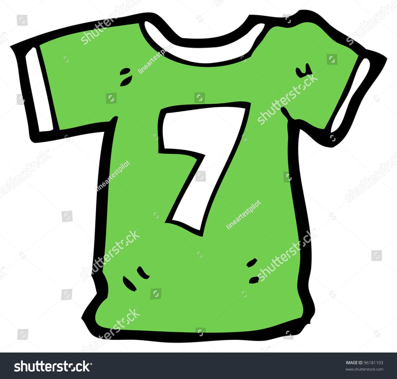 Cartoon Sports Shirt Number Seven Stock Illustration 96181103