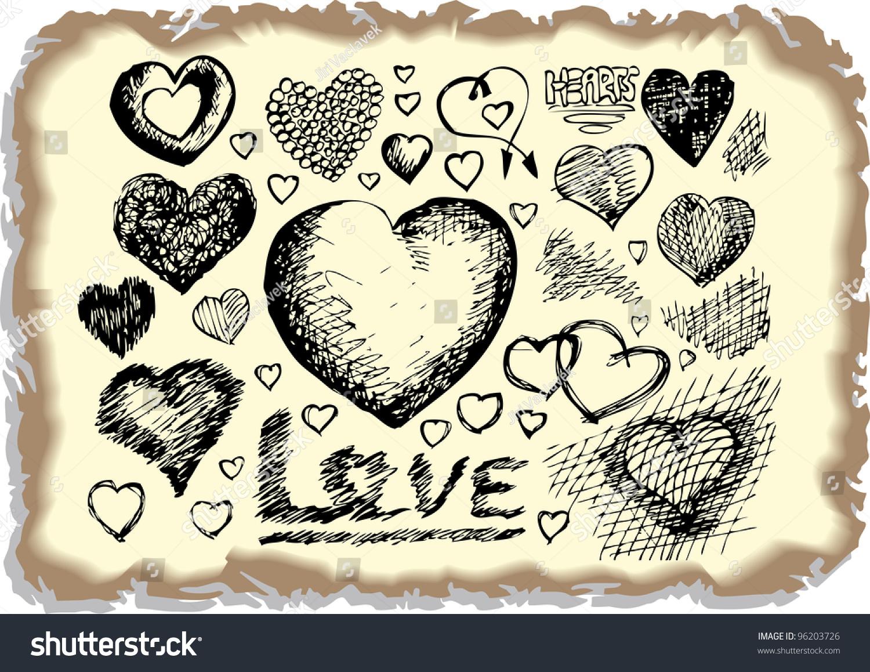 Hearts symbols stock vector 96203726 shutterstock hearts symbols biocorpaavc