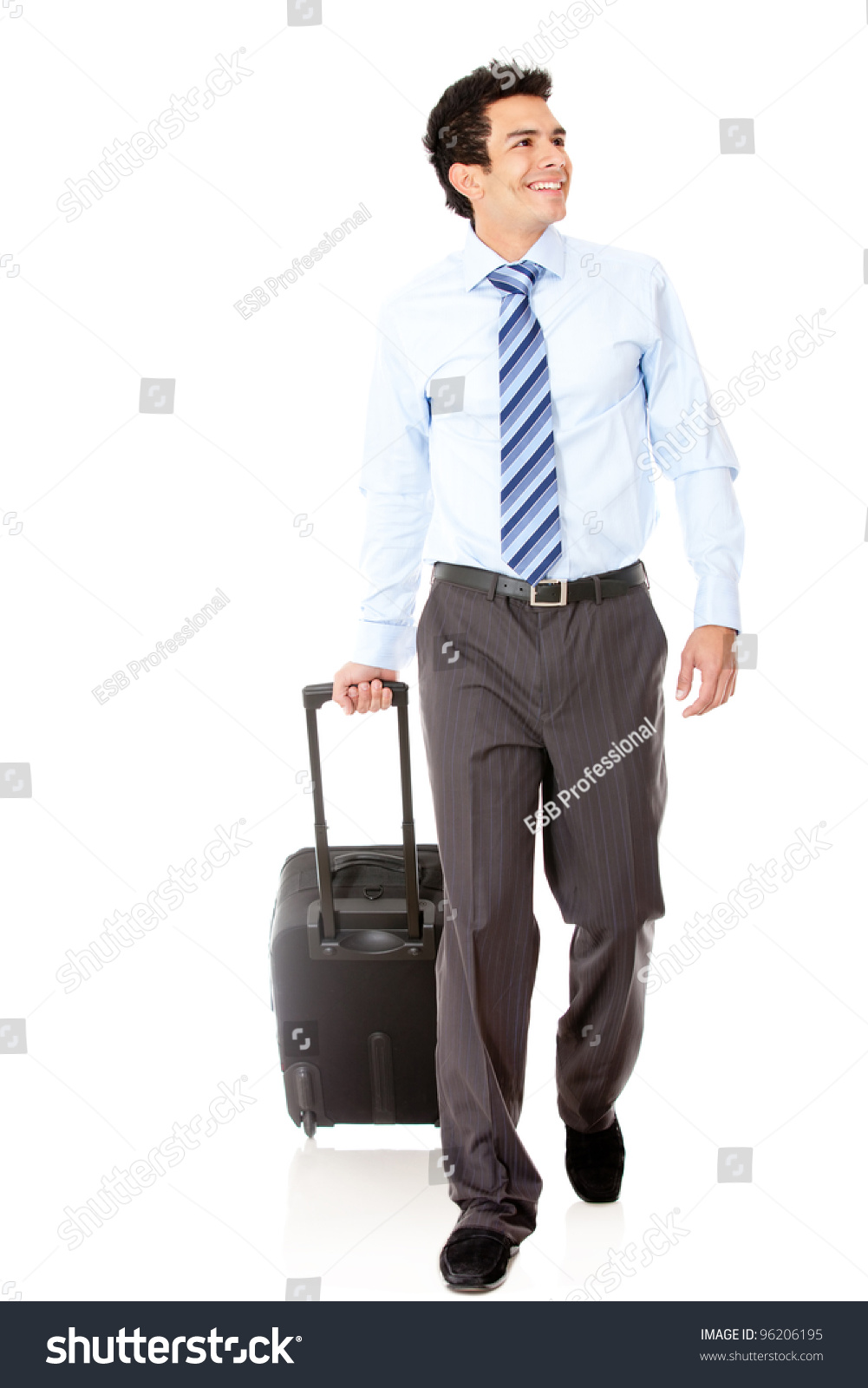 Man Going On Business Trip Carrying Stock Photo 96206195 ...