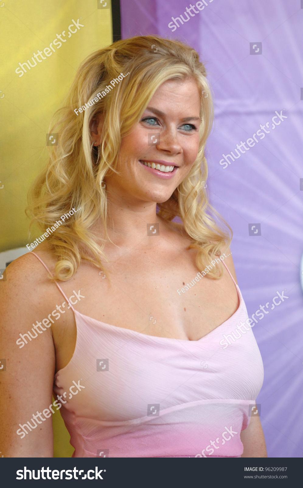 Alison Sweeney Oops actress alison sweeney cocktail party beverly stock photo