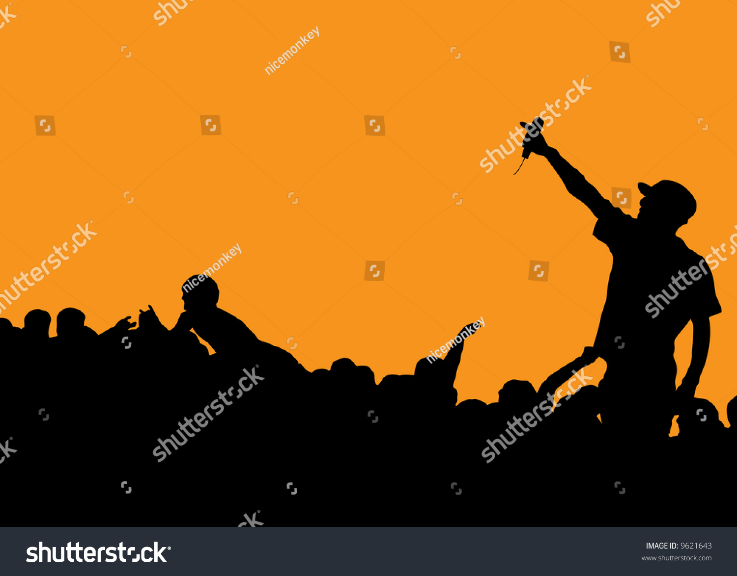 Pics photos rock concert background - Rock Concert With Singer Talking To The Crowd On An Orange Background