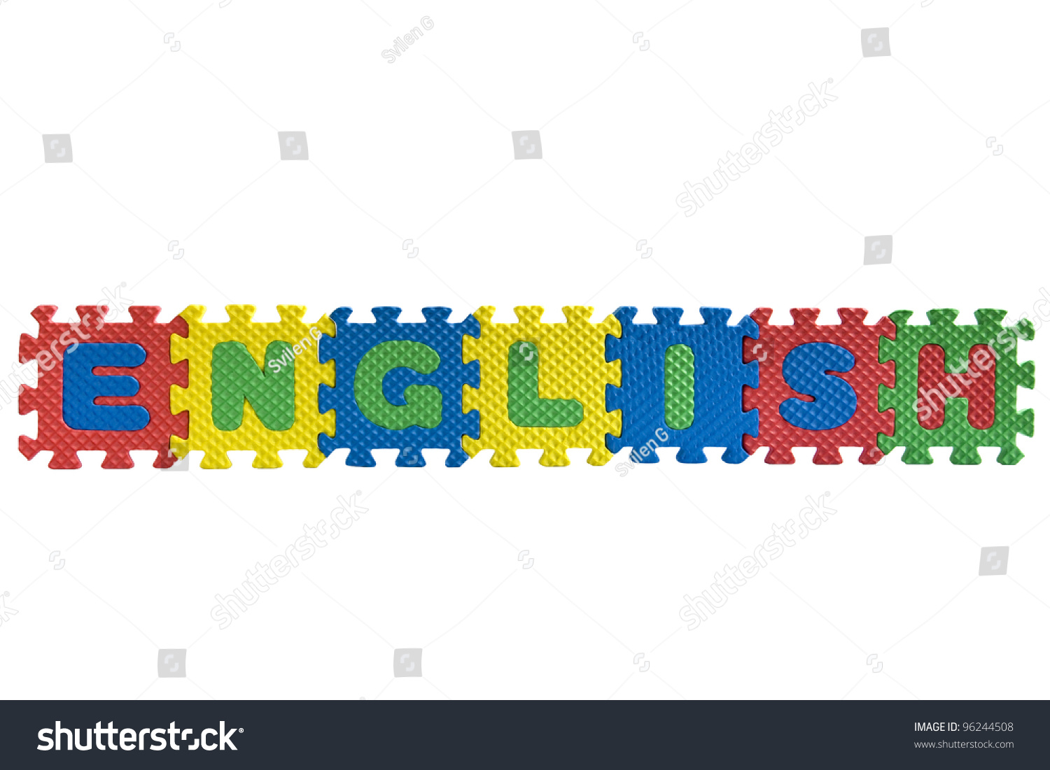 Word English Written Alphabet Puzzle Letters Stock Photo ...