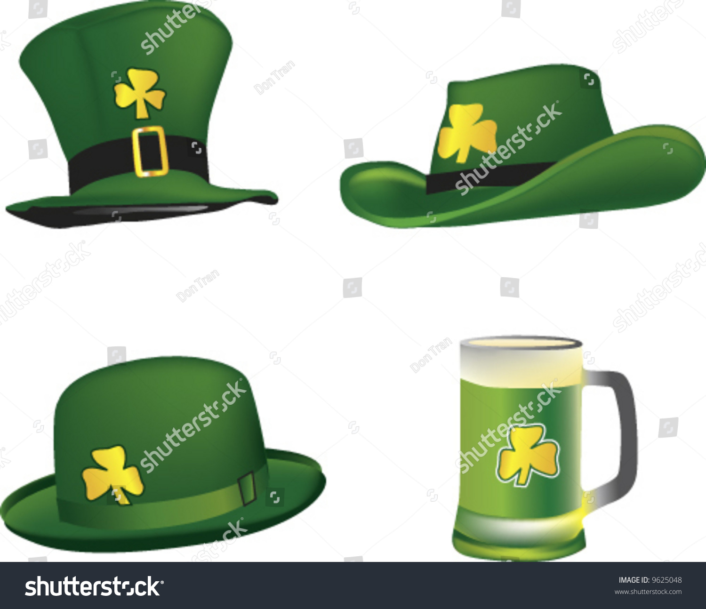 vector st patrick hats beer mug stock vector 9625048 shutterstock