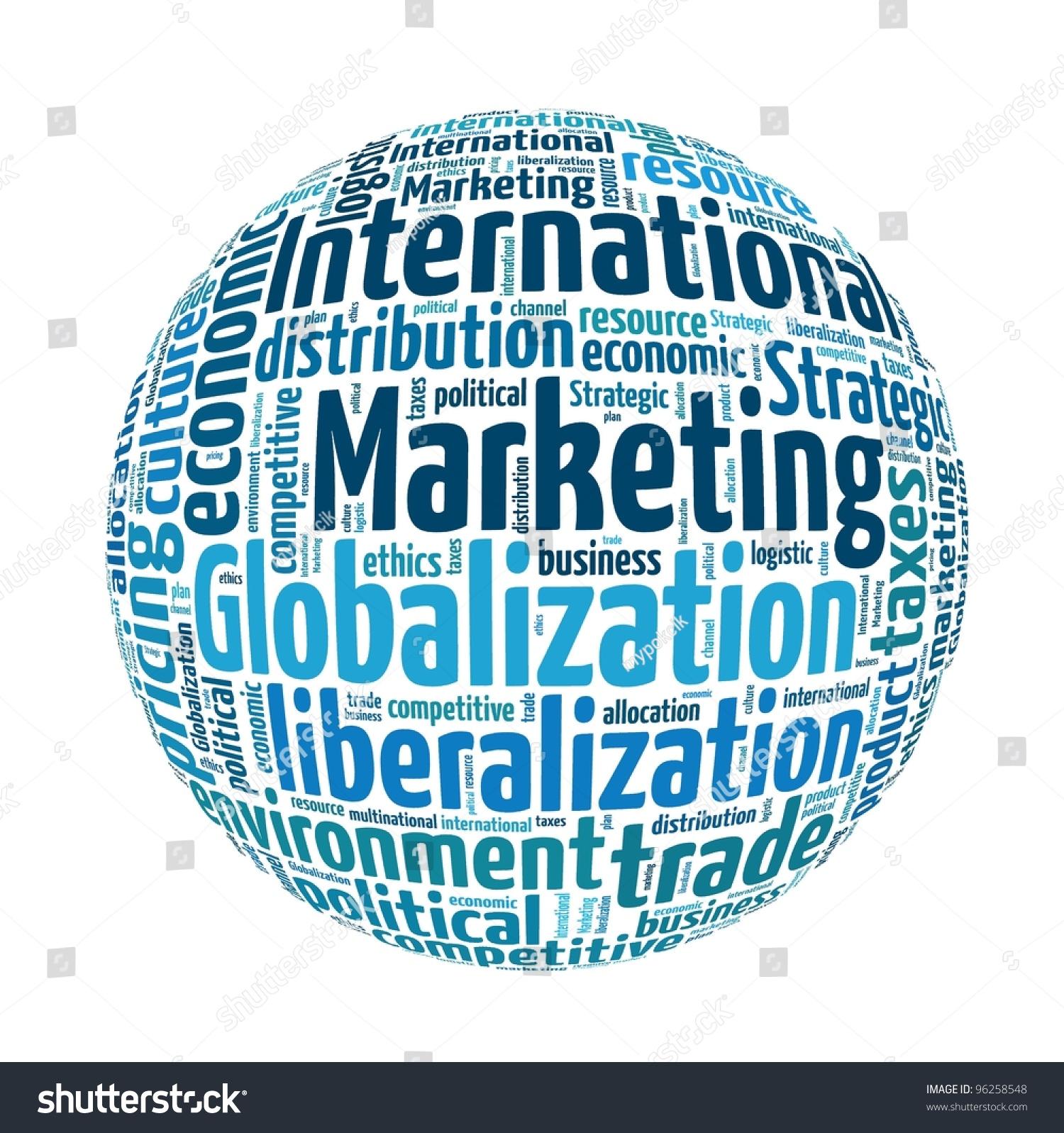 International Marketing in word collage
