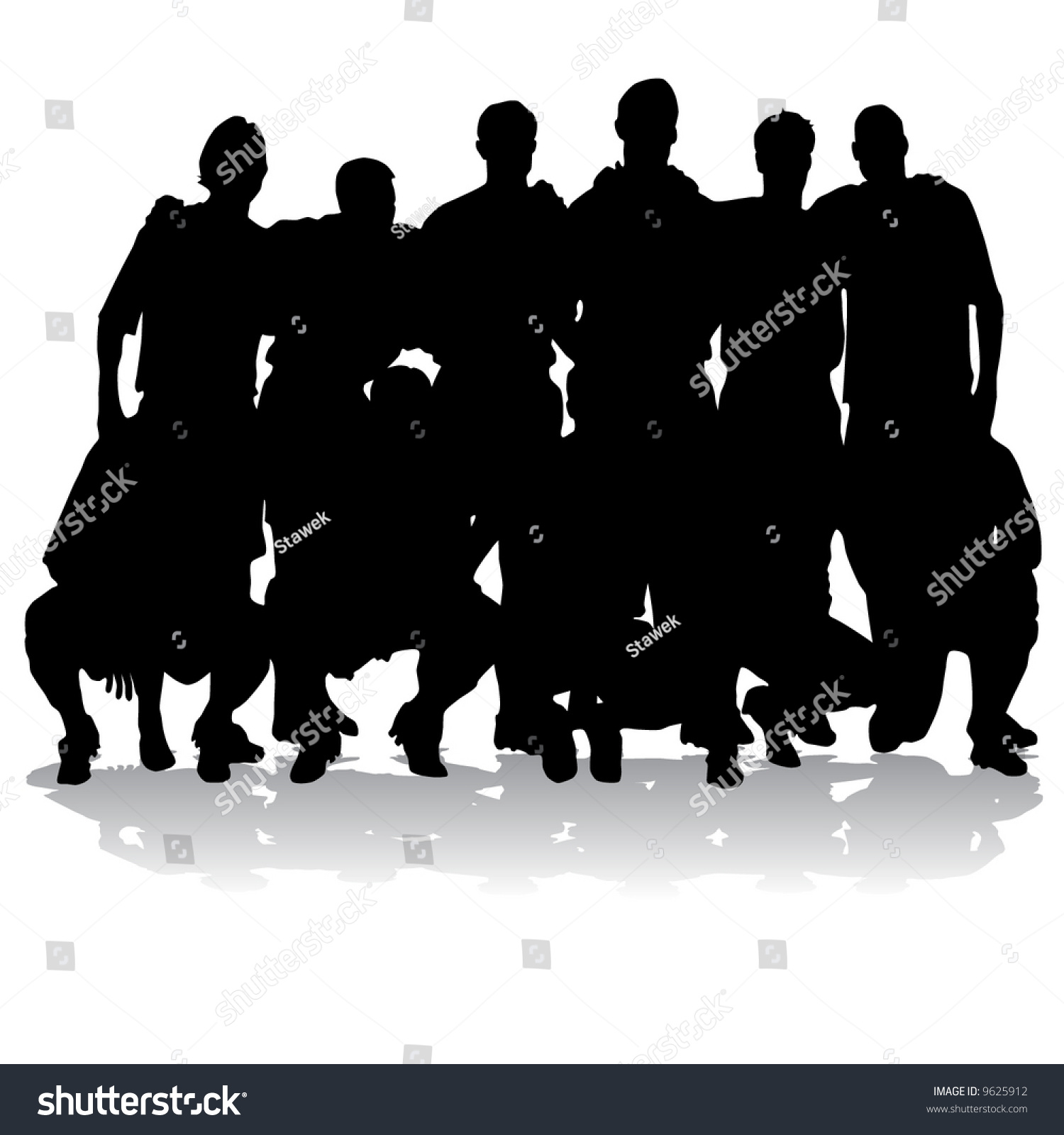 soccer team silhouettes